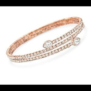 "Swarovski Crystal ""Twisty Drop"" Wrap Bracelet"